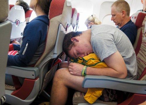 In-flight rage